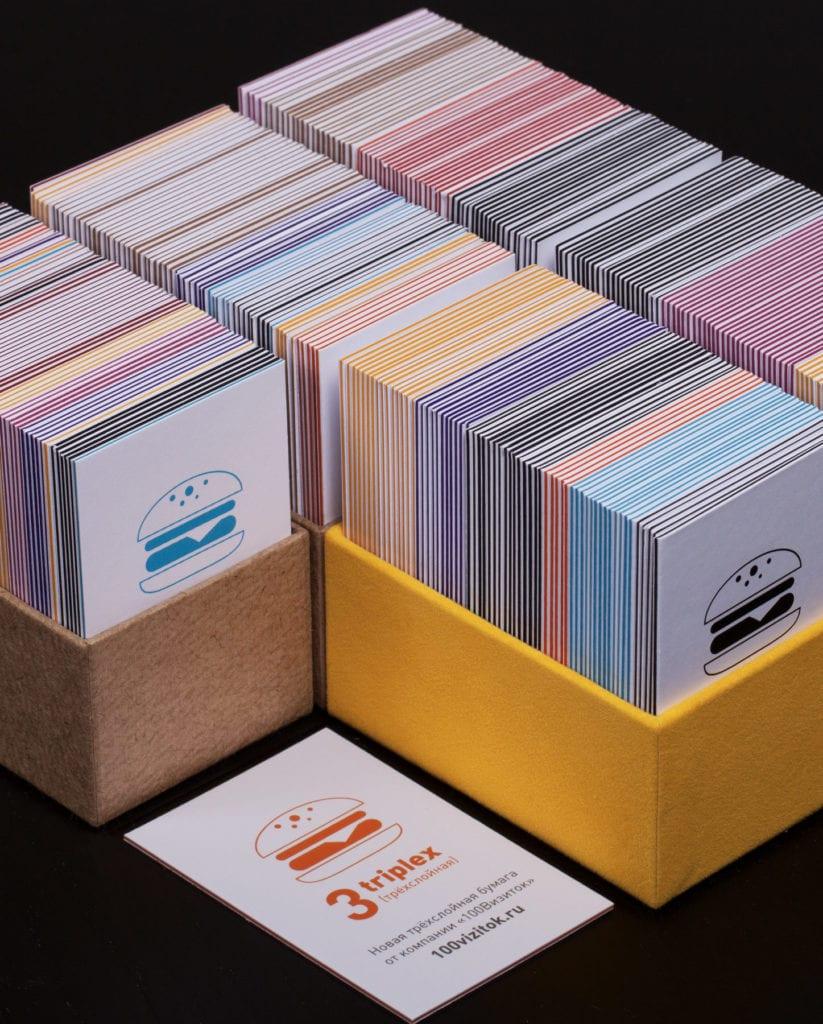 Оригинальные визитки. Трехслойные визитки