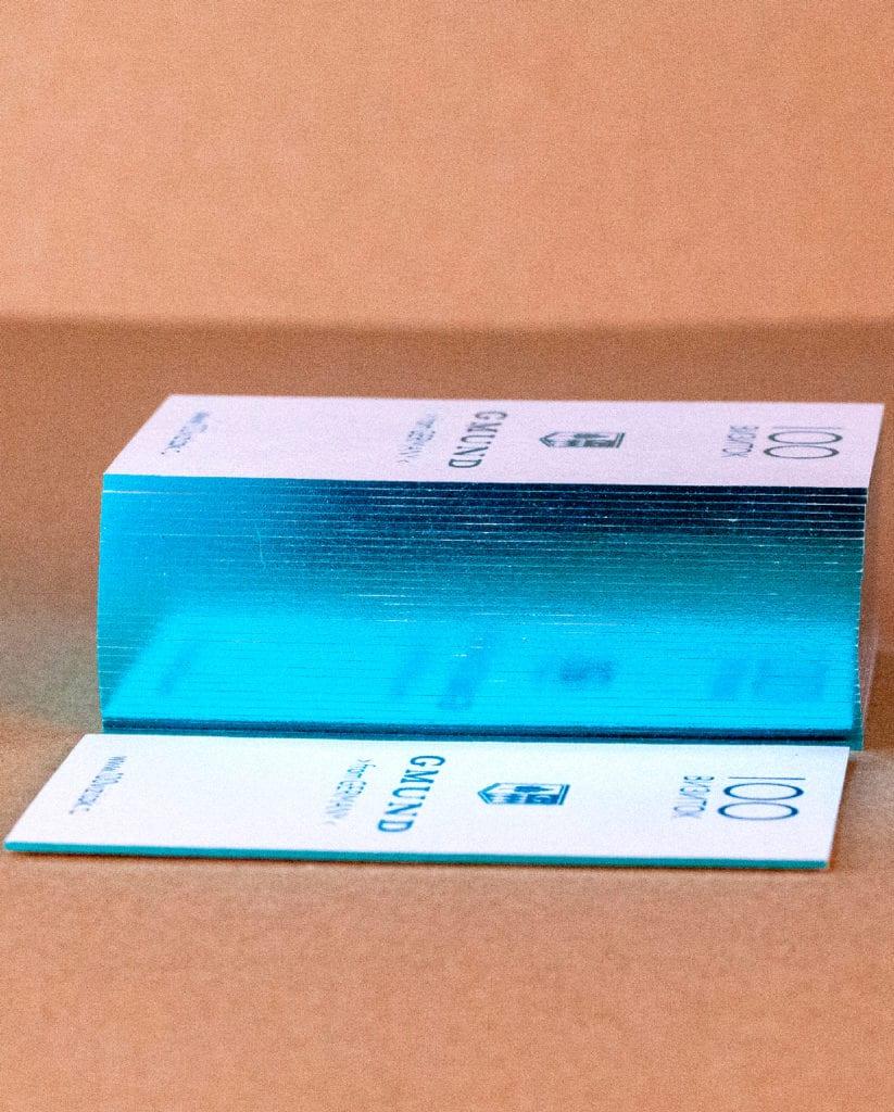 Золочение фольгирование торцов визиток