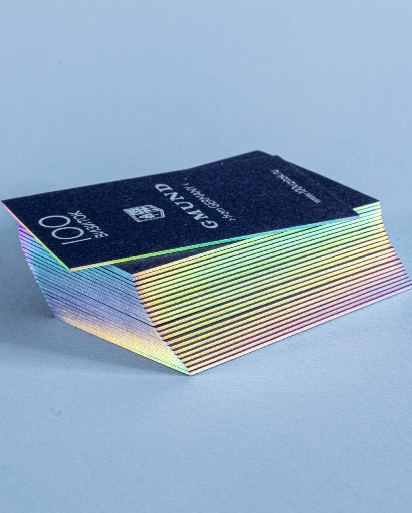 Золочение визиток