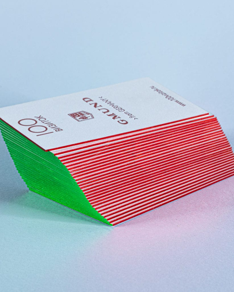 Фольгирование торцов визиток