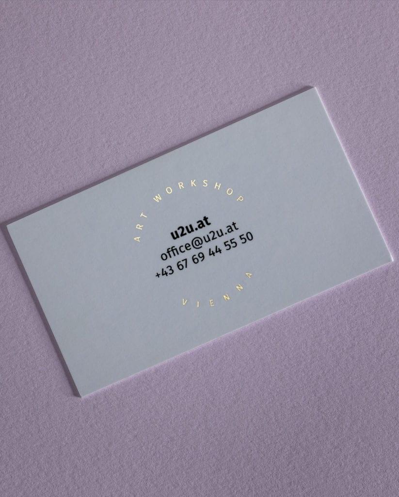 Тиснение визиток