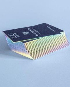 Золочение торцов визиток