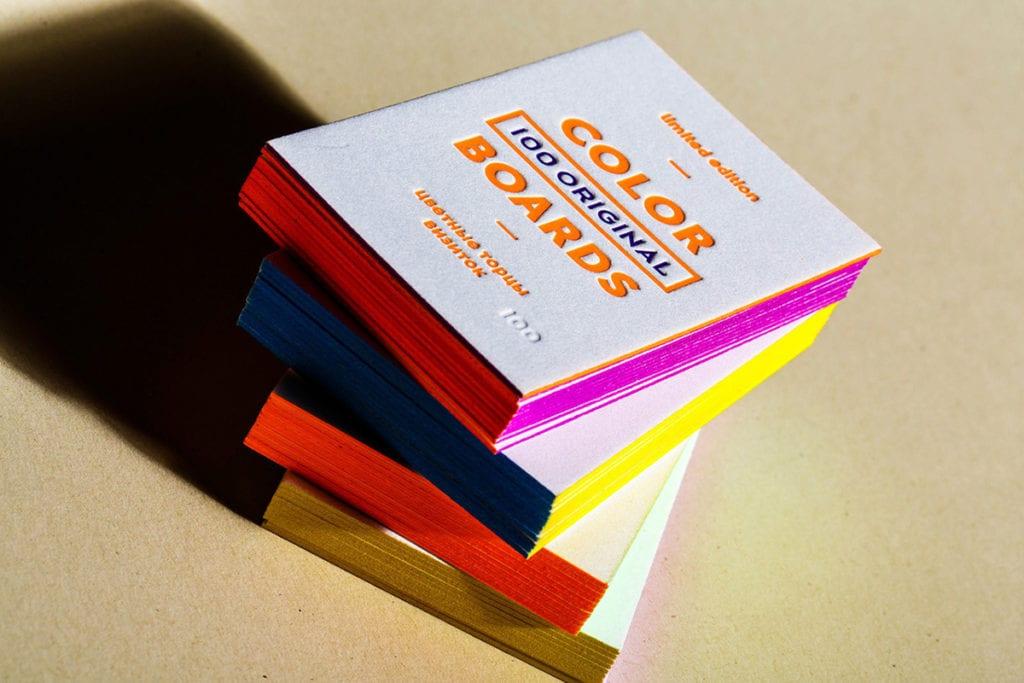 Крашеный срез визиток