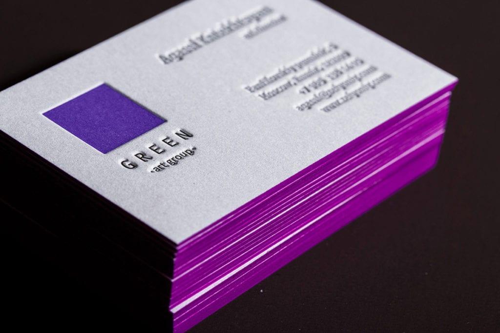 Срез визиток покраска