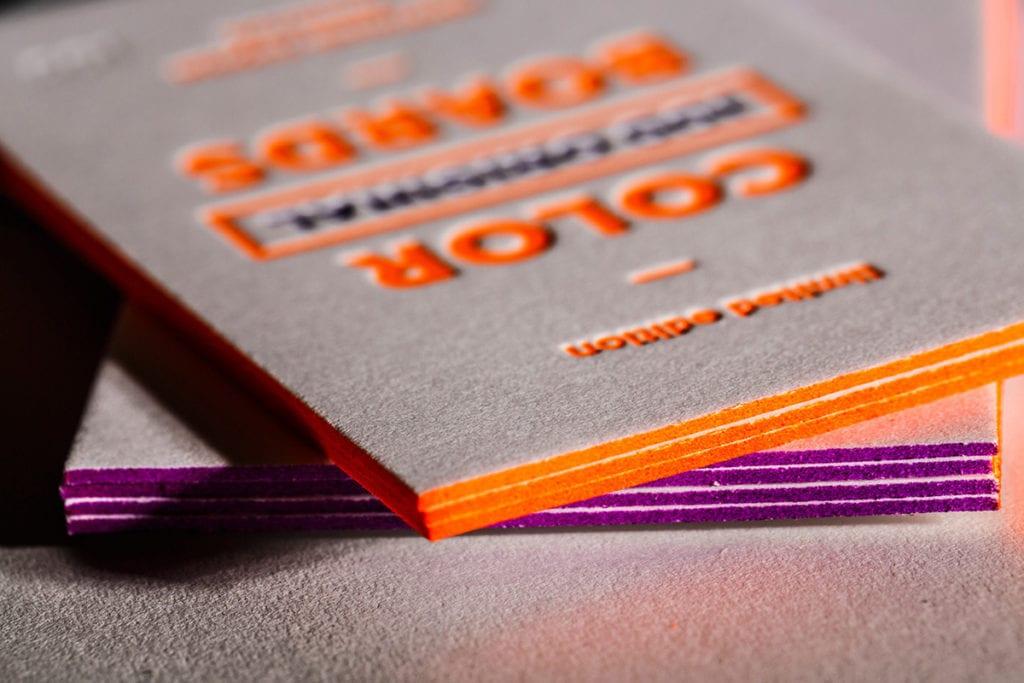 Цветные торцы визиток