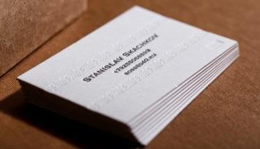 Высокая печать визитки